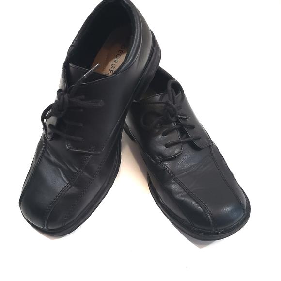 George Boys Black Dress Shoe Size